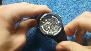 Повний відеоогляд Чоловічі годинники Skmei S-Shock Black. Як налаштувати!!!
