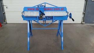 Сегментный листогиб ручной Dachdecker (Decker) SEG 1250(, 2015-06-05T11:52:51.000Z)