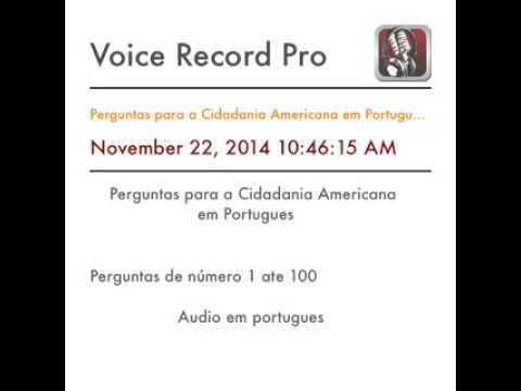 Perguntas para a Cidadania Americana em Portugues 1 a 100