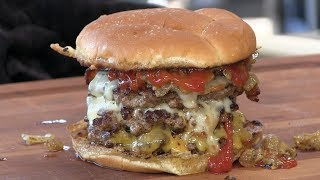 Death By Triple Bacon Cheeseburger Recipe!