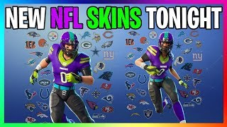 *NEW* FORTNITE LEAKS NFL SKINS & COSMETICS RELEASING TONIGHT IN ITEMSHOP MUST BUY