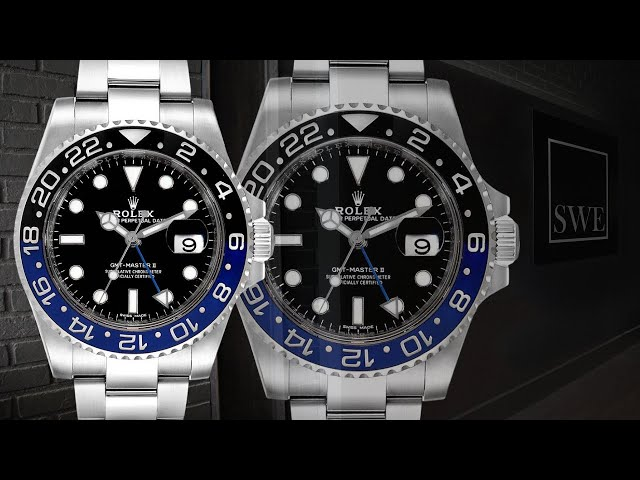 Rolex GMT Master II Batman Blue Black Bezel Steel Watch 116710 | SwissWatchExpo