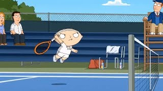 Family Guy  Stewie plays tennis in a funny way