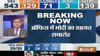 LS polls 2014 trends: BJP+ 329; Cong+ 71; AAP 3; Others 139