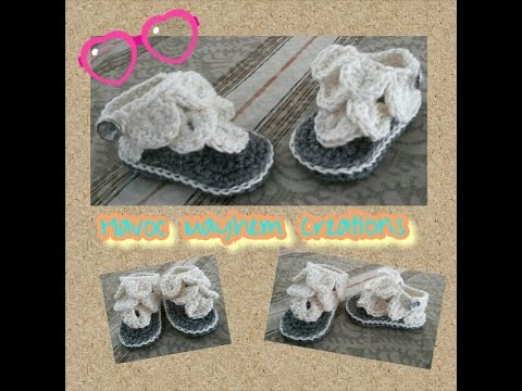 Tutorial How to Crochet Crocodile Baby Sandals  By,  Havoc Mayhem Creations
