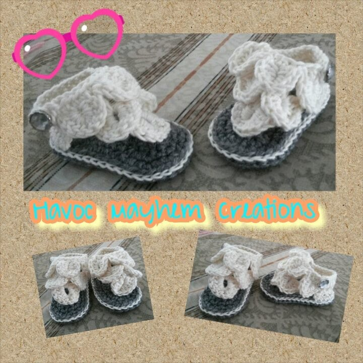 Tutorial How To Crochet Crocodile Baby Sandals By Havoc Mayhem Beauteous Crochet Baby Sandals Pattern