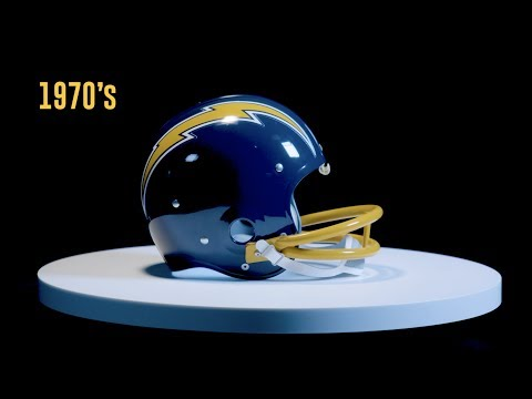 See The Evolution Of The Chargers Football Helmets Through The Decades