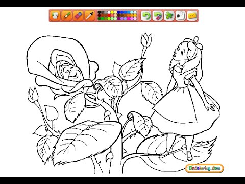 Alice In Wonderland Coloring Pages For Kids  Alice In Wonderland