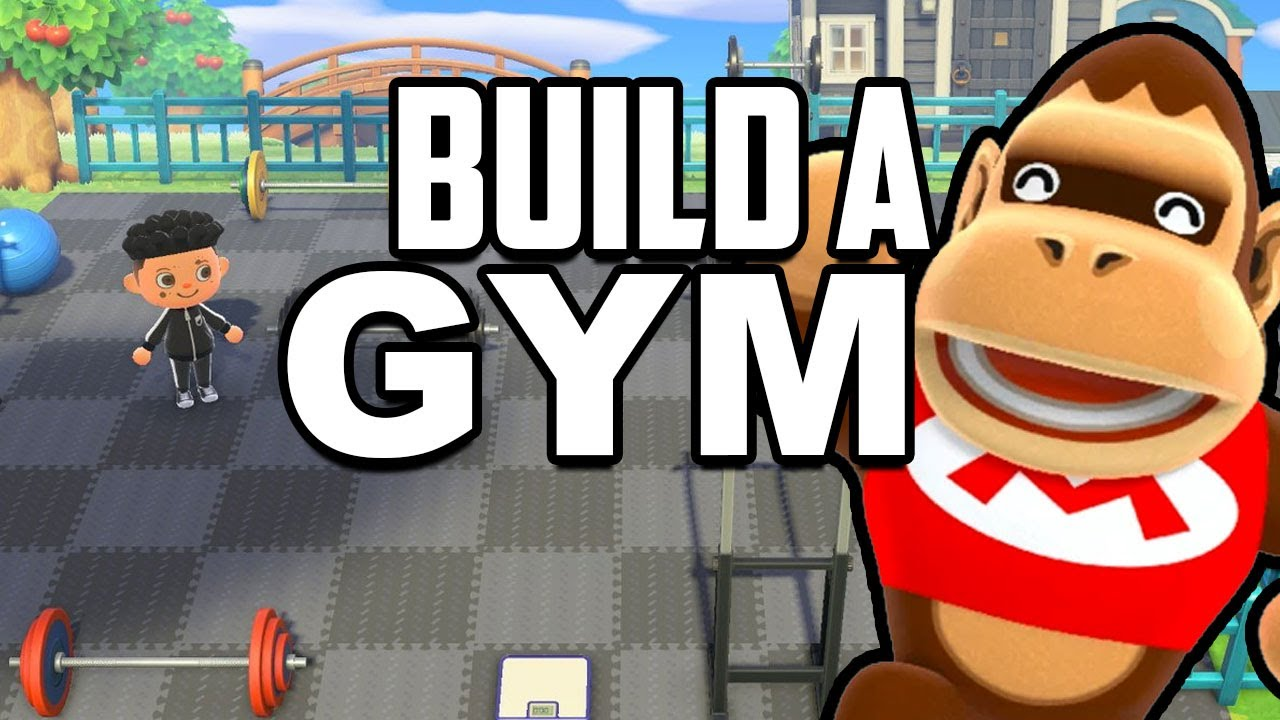 Building A Gym In Animal Crossing New Horizons Youtube