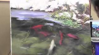 НОВЫЕ ВИДЕОУРОКИ Игоря Сахарова Рыбки кои в прозрачной воде