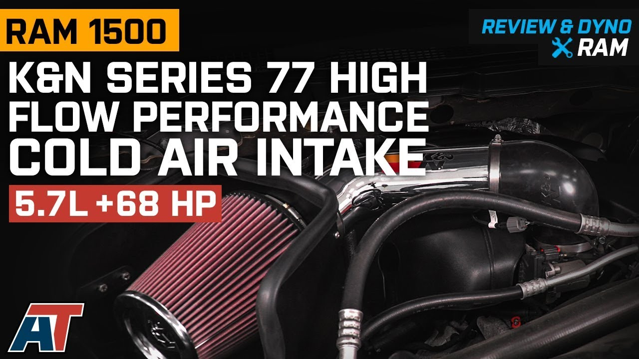 2009 2018 Ram K N Series 77 High Flow Performance Cold Air Intake 5 7l Review Dyno Youtube