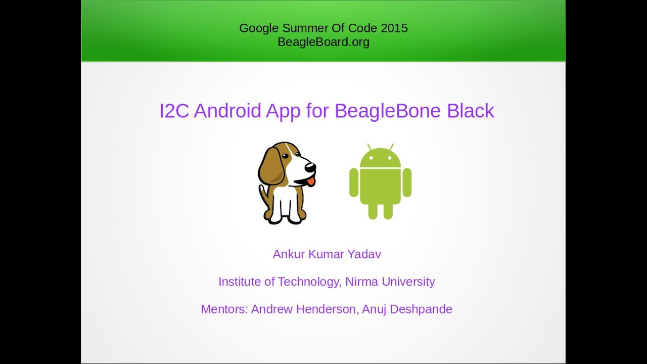 I2C Android App for BeagleBone Black