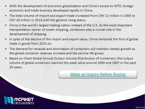 Research Report on China Container Market Opportunities & Trends 2021