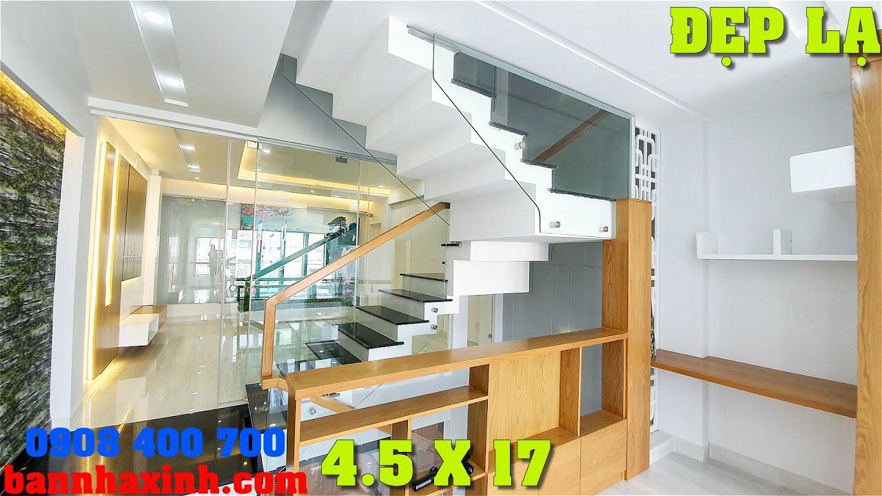 image Nhà Phố 4Tầng Sài Gòn đẹp nhất khu phố,4.5x17,Thiết kế Hiện Đại,tiện nghi,Đường nhựa 7m thông thoáng