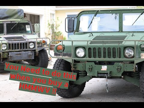 Humvee Build - Things you MUST do when you first buy a HMMWV
