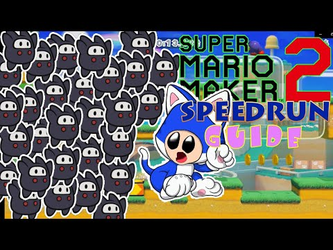 Cat Mario Dash Ninji Speedrun Complete Guide | World Record Strats