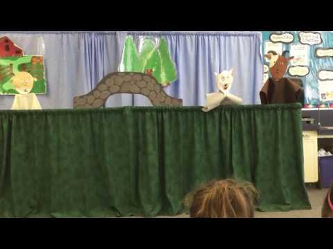 Ada Givens Elementary School Hanson's Third Grade Three Billy Goats Gruff Puppet Show 2017