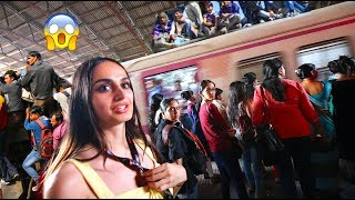 GIRL VISITING INDIAS BIGGEST TRAIN STATION !!!