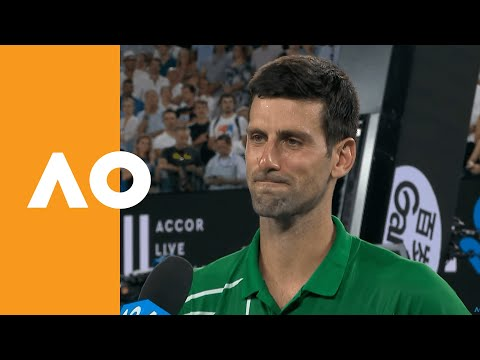 "Novak Djokovic: ""Respect to Roger for coming out tonight"" 