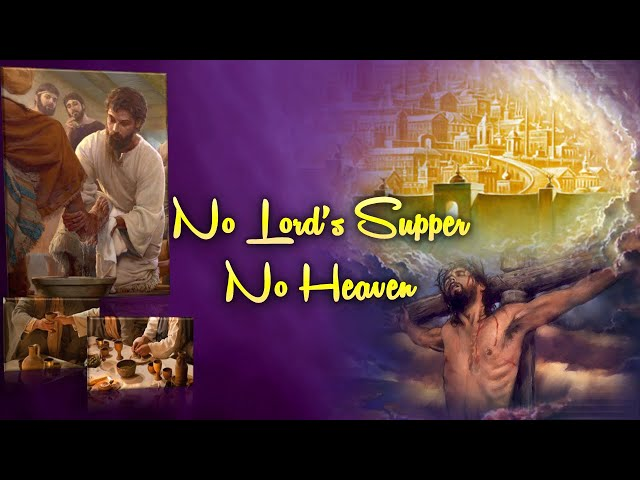 No Lord's Supper No Heaven by Professor Sharath Babu