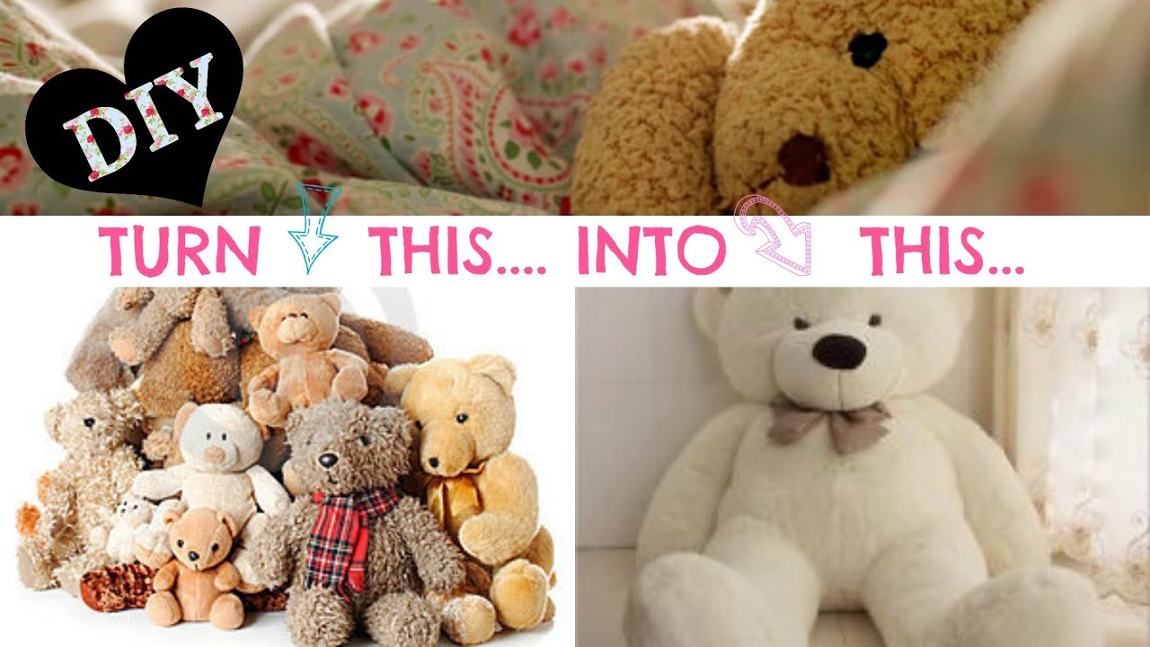 DIY NO SEW Stuffed Animal Solution