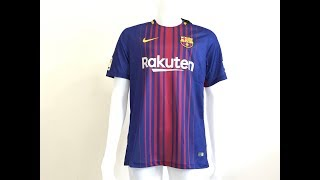 b2ed28e07 NIke Fc barcelona 2017 18 Home soccer jersey fan version review