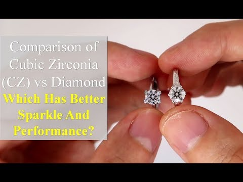 Cubic Zirconia (CZ) vs Diamond [Comparison in Different Lightings]