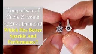 Cubic Zirconia (CZ) vs Diamond [Comparison in Different Lightings]