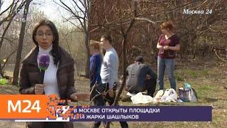 В Москве открыты площадки для жарки шашлыков - Москва 24