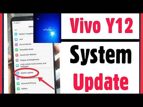 Vivo Y12 | How To Start System Update