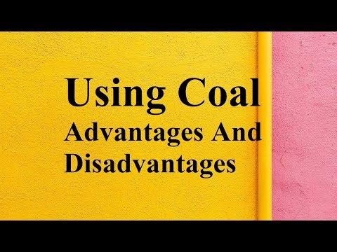 Using Coal Advantages And Disadvantages