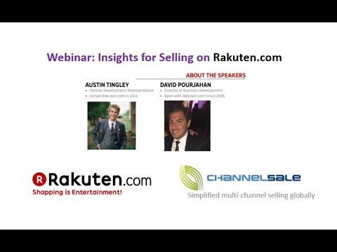 Insights for Selling on Rakuten.com Webinar (recorded)