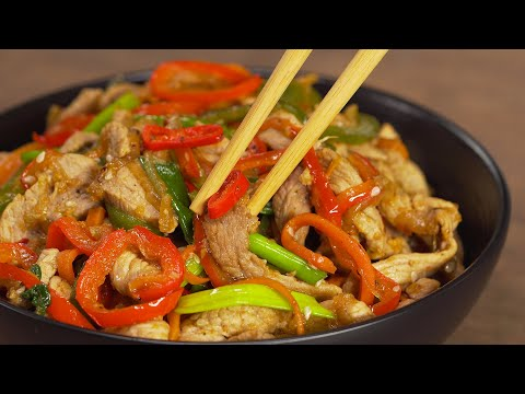 Попробовав однажды, захочется приготовить еще! Свинина с овощами по-китайски от Всегда Вкусно!