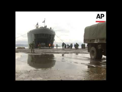 Albania - Arrival of Turkish and Greek troops
