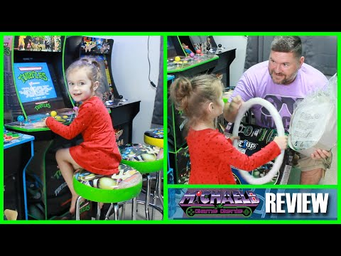 Teenage Mutant Ninja Turtles Arcade1Up Stool Unboxing and Review | MichaelBtheGameGenie from MichaelBtheGameGenie