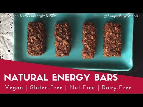 Simple Nut-Free, Vegan, Gluten-Free Energy Bars {Healthy Gluten-Free, Vegan Recipe}