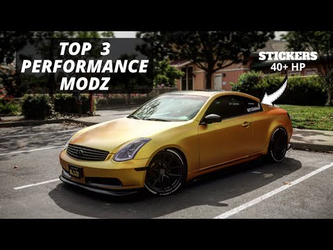 Top 3 PERFORMANCE MODs For The G35 / 350z (2020) (POLICE GUEST STAR)