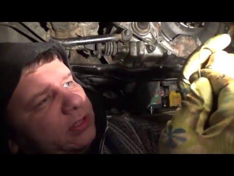 Замена маслосъемных колец через низ MAZDA 323F