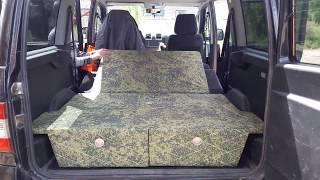Короб-лежак в УАЗ Патриот - обзор