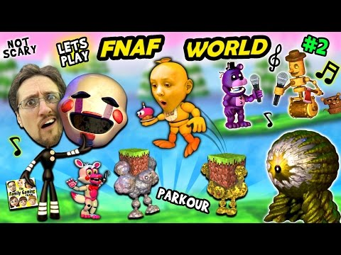♫ FNAF WORLD ♫ #2:  Comeback Victory & Minecraft Addiction w FGTEEV Duddy & Chase 🎼🎤♬🎶 ♪ New Boss