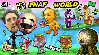 ♫ FNAF WORLD ♫ #2:  Comeback Victory & Minecraft Addiction w/ FGTEEV Duddy & Chase