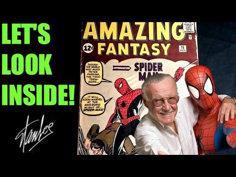Original 1962 Amazing Fantasy #15 Comic-Signed By Stan Lee/Let's Look Inside