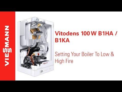 How to Set a Vitodens 100 B1HA/B1KA Boiler to Low and High Fire Mode