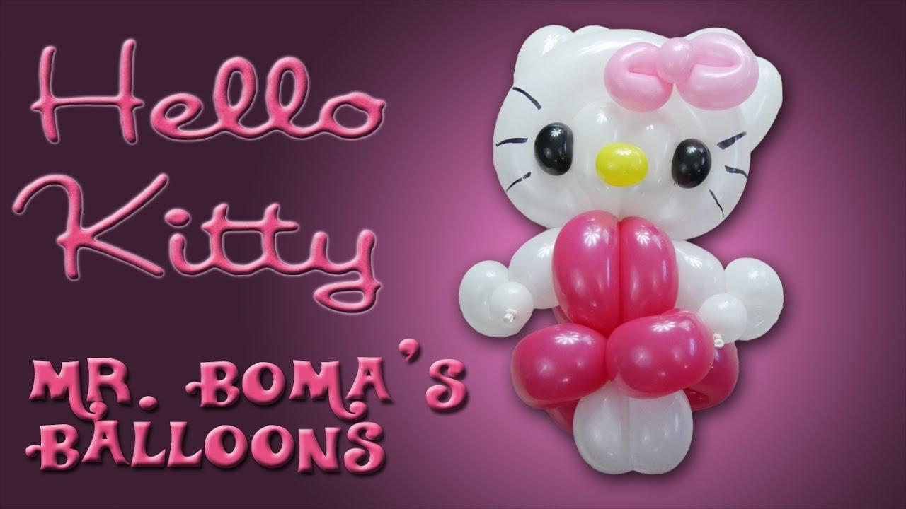 hello kitty balloon animal tutorial balloon twisting and modeling