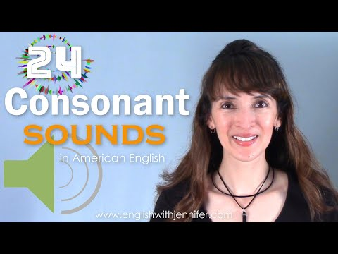 24 Consonant Sounds in American English with the IPA