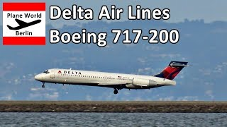 Delta Air Lines Boeing 717-200 landing at San Francisco Airport