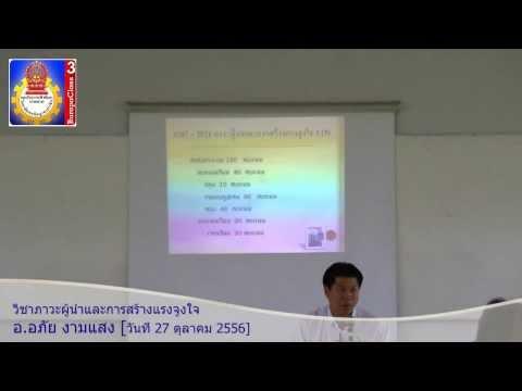 วิชาภาวะผู้นำและการสร้างแรงจูงใจ (1)