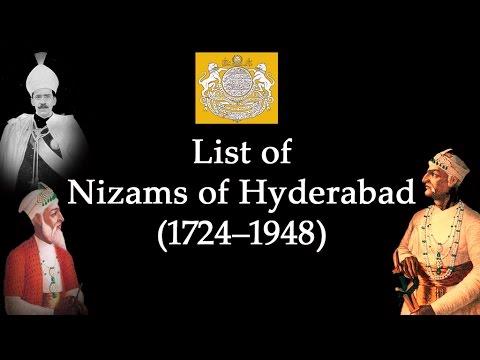 List of Nizams  (1724–1948)
