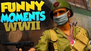 Call of Duty WW2 Funny Moments - Animation Glitch & Funny Deaths!