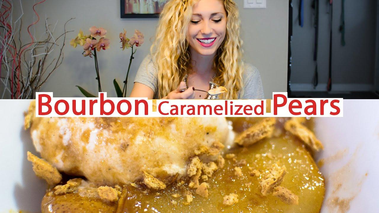 Bourbon Caramelized Pear - YouTube